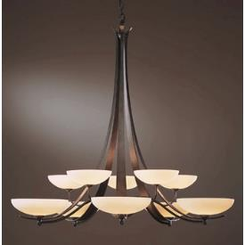 Hubbardton Forge 19-124810SG Aegis - Ten Light 2-Tier Made-to-Order Chandelier