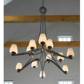 Hubbardton Forge 19-415612HG Ribbon - Twelve Light 3-Tier Made-to-Order Chandelier