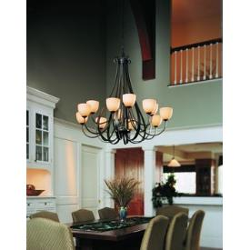 Hubbardton Forge 19-214812HG Sweeping Taper - Twelve Light 2-Tier Made-to-Order Chandelier