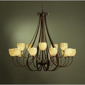 Hubbardton Forge 19-216615HG Sweeping Taper - Fifteen Light 2-Tier Made-to-Order Chandelier