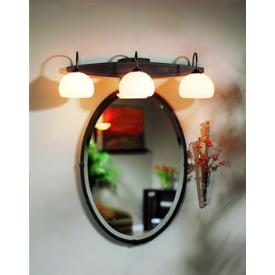 Hubbardton Forge 71-0004 Beveled Oval Mirror with Leaf - Oval Mirror