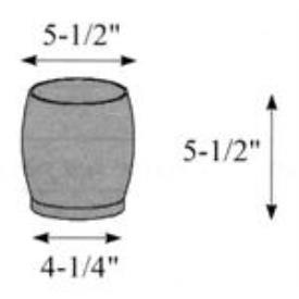 """Hubbardton Forge 29-0530-WA Glass -Cyl 5.43"""" x 5.50"""""""