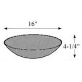 "Hubbardton Forge 29-1650-SD Glass -Bowl 16""OD x 4.25"""