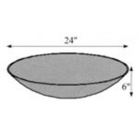 """Hubbardton Forge 29-2450-SW Glass -Bowl 24""""OD x 6"""""""