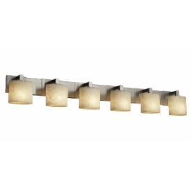 Justice Design CLD-8926 Clouds - Six Light Modular Bath Bar