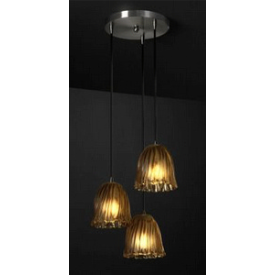 Justice Design GLA-8818 Mini Three Light Cluster Pendant