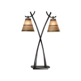 Kenroy Lighting 03334 Wright 2 Light Table Lamp