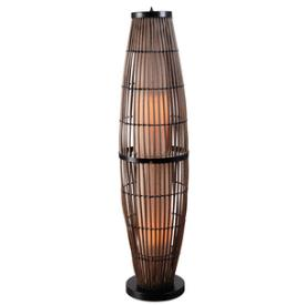 Kenroy Lighting 32248RAT Biscayne - Two Light Outdoor Floor Lamp