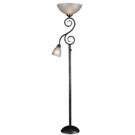 Kenroy Lighting 32259SMB Treble - Two Light Mother and Son Torchiere