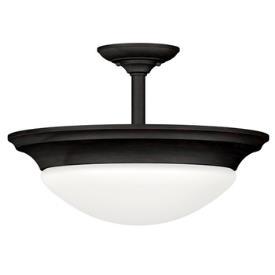 Kenroy Lighting 80363ORB Dickens 2 Light Semi-Flush