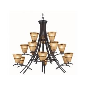 Kenroy Lighting 90088ORB Wright 15 Light Chandelier