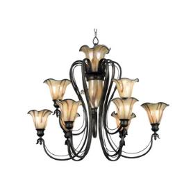 Kenroy Lighting 90899TS Inverness 12 Light Chandelier