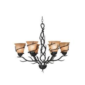 Kenroy Lighting 90900BRZ Twigs 6 Light Chandelier