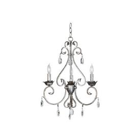 Kenroy Lighting 91343WS Antoinette 3 Light Chandelier