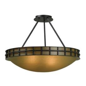 Kenroy Lighting 91597FGRPH Pane - Two Light Semi-Flush Mount