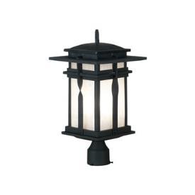 Kenroy Lighting 91905BL Carrington - One Light Post Lantern