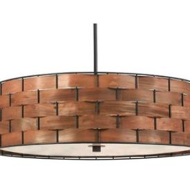 Kenroy Lighting 92038DWW Shaker - Three Light Pendant