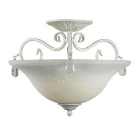 Kenroy Lighting 92052WW Chamberlain - Two Light Semi-Flush Mount