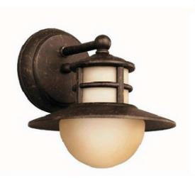 Kichler Lighting 11107AGZ Menlo - One Light Outdoor Wall Bracket