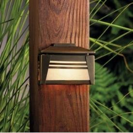 Kichler Lighting 15110OZ Zen Garden - One Light Deck Lamp