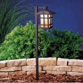 Kichler Lighting 15232AGZ Cross Creek - Line Voltage Path and Spread Light