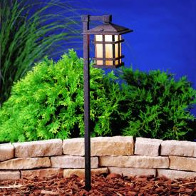Kichler Lighting 15232AGZ Cross Creek - Line Voltage Path and Spread Light