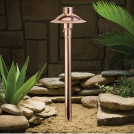 Kichler Lighting 15350CO Low Voltage One Light Path Lamp