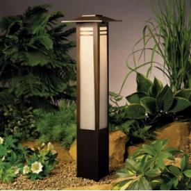 Kichler Lighting 15392OZ Zen Garden - One Light Path and Spread Light