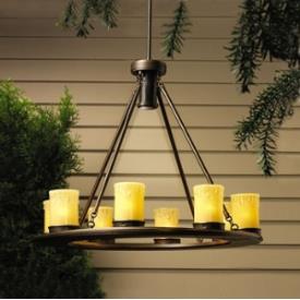 Kichler Lighting 15402OZ Oak Trail - Nine Light Outdoor Chandelier