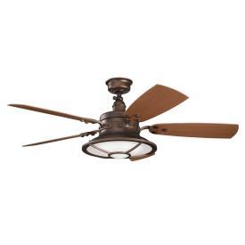 "Kichler Lighting 310102WCP Harbour Walk Patio -52"" Ceiling Fan"