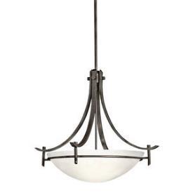 Kichler Lighting 3278OZW Olympia - Three Light Inverted Pendant