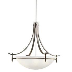 Kichler Lighting 3279OZW Olympia - Five Light Inverted Pendant