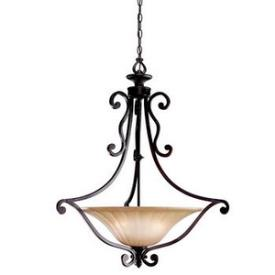 Kichler Lighting 3558CZ Cottage Grove - Three Light Inverted Pendant