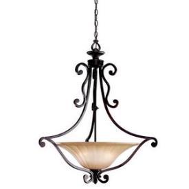 Kichler Lighting 3558CZ Cottage Grove - Three Light Inverted Pendant