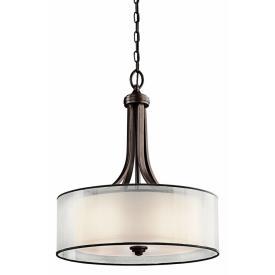 Kichler Lighting 42385MIZ Lacey - Four Light Inverted Drum Shade Pendant