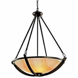 Kichler Lighting 42616OZ Carthage - Three Light Inverted Pendant