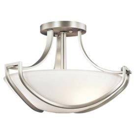 Kichler Lighting 42651NI Owego - Three Light Semi-Flush Mount 17 Inch