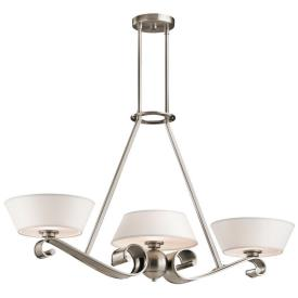 Kichler Lighting 42712CLP Livingston - Three Light Linear Chandelier