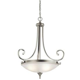 Kichler Lighting 43164NI Monroe - Three Light Inverted Pendant