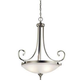 Kichler Lighting 43164NI Monroe - Three Light Inverted Pendant