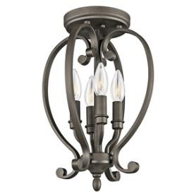 Kichler Lighting 43168OZ Monroe - Four Light Semi-Flush Mount