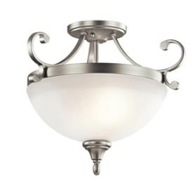 Kichler Lighting 43169NI Monroe - Two Light Semi-Flush Mount