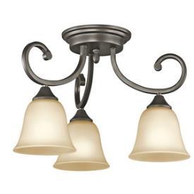 Kichler Lighting 43174OZ Feville - Three Light Semi-Flush Mount