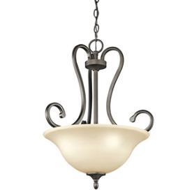 Kichler Lighting 43179OZ Feville - Three Light Inverted Pendant