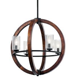 Kichler Lighting 43185AUB Grand Bank - Four Light Chandelier