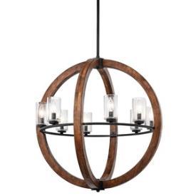 Kichler Lighting 43190AUB Grand Bank - Eight Light Chandelier