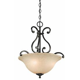 Kichler Lighting 43227OZ Camerena - Three Light Inverted Pendant