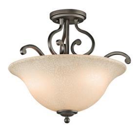 Kichler Lighting 43232OZ Camerena - Three Light Semi-Flush Mount