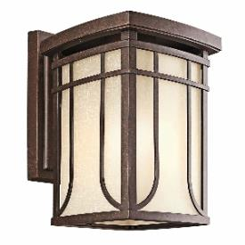 Kichler Lighting 49148AGZ Riverbank - One Light Outdoor Wall Bracket