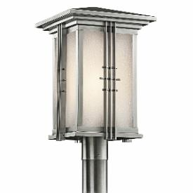 Kichler Lighting 49163SS Portman - One Light Outdoor Post Mount